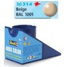 Tinta Revell para plastimodelismo - Aqua Color - Solúvel em água - Bege - 18ml - Num. 314