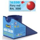 Tinta Revell para plastimodelismo - Aqua Color - Solúvel em água - Vermelho vivo - 18ml - Num. 330
