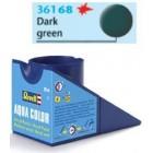Tinta Revell para plastimodelismo - Aqua Color - Solúvel em água - dark green mat RAF - 18ml - Num. 68