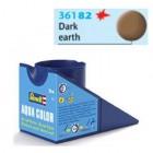 Tinta Revell para plastimodelismo - Aqua Color - Solúvel em água - Marrom terra escuro fosco - 18ml - Num 82