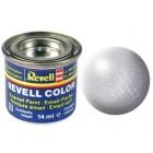 Tinta Revell para plastimodelismo - Esmalte sintético - Prata - 14ml - Num. 90