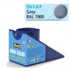 Tinta Revell para plastimodelismo - Aqua Color - Solúvel em água - grey mat RAL 7000 - 18ml - Num. 57