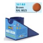 Tinta Revell para plastimodelismo - Aqua Color - Solúvel em água - Marrom fosco - 18ml -  Num. 85