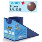 Tinta Revell para plastimodelismo - Aqua Color - Solúvel em água - Brown - 18ml - Num. 381