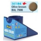 Tinta Revell para plastimodelismo - Aqua Color - Solúvel em água - Marrom oliva - 18ml - Num. 86