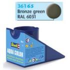 Tinta Revell para plastimodelismo - Aqua Color - Solúvel em água - bronze green mat RAL 6031 - 18ml - Num. 65