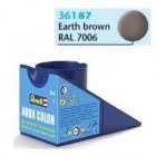 Tinta Revell para plastimodelismo - Aqua Color - Solúvel em água - Marrom terra - 18ml - Num. 87