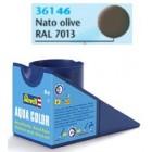 Tinta Revell para plastimodelismo - Aqua Color - Solúvel em água - NATO olive mate RAL 7013 - 18ml - NOVIDADE! - Num. 46