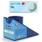 Tinta Revell para plastimodelismo - Aqua Color - Solúvel em água - sky mat RAF - 18ml - Num. 59
