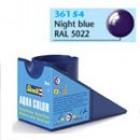 Tinta Revell para plastimodelismo - Aqua Color - Solúvel em água - night blue gloss RAL 5022 - 18ml - Num. 54