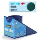 Tinta Revell para plastimodelismo - Aqua Color - Solúvel em água - Black-green mat - 18ml - Num. 40