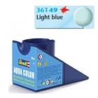 Tinta Revell para plastimodelismo - Aqua Color - Solúvel em água - light blue mat - 18ml - Num. 49