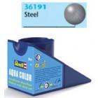 Tinta Revell para plastimodelismo - Aqua Color - Solúvel em água - Metal metálico- 18ml - Num. 91