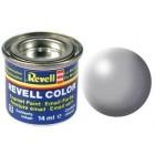 Tinta Revell para plastimodelismo - Esmalte sintético - Cinza silk - 14ml - Num. 374