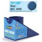 Tinta Revell para plastimodelismo - Aqua Color - Solúvel em água - blue mat RAL 5000 - 18ml - Num. 56