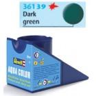 Tinta Revell para plastimodelismo - Aqua Color - Solúvel em água - Verde escuro mat - 18ml - num. 39