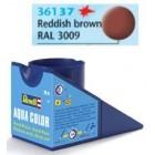 Tinta Revell para plastimodelismo - Aqua Color - Solúvel em água - Reddish brown mat - 18ml - Num. 37