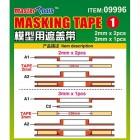 Masking tape 1pça de 3mm + 2 pças de 2mm com suporte