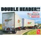 Double Header Tandem Van Trailers - 1/25