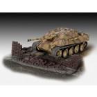 Tanque antitanque Sd.Kfz. 173 Jagdpanther com diorama de ruínas - 1/76