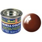 Tinta Revell para plastimodelismo - Mud brown gloss Num. 80