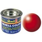 Tinta Revell para plastimodelismo - Esmalte sintético - Luminous red silk Num.332