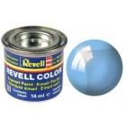 Tinta Revell para plastimodelismo - Esmalte sintético - Blue clear Translucido Num 752
